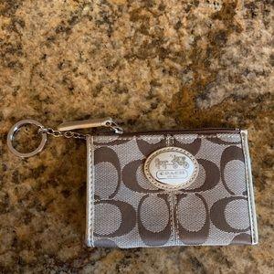 Coach keychain ID wallet